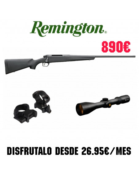 Conjunto Rifle Remington 783 + Monturas BAT Fijas + Visor NIKKO STIRLING