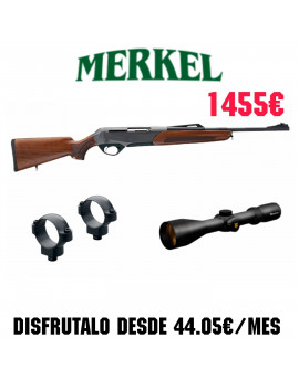 Conjunto Rifle Merkel SR1 Basic + Monturas WARNER Desmontables + Visor NIKKO STIRLING