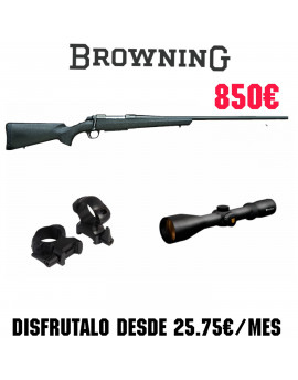 Conjunto Rifle Browning A-BOLT + Monturas BAT Fijas + Visor NIKKO STIRLING