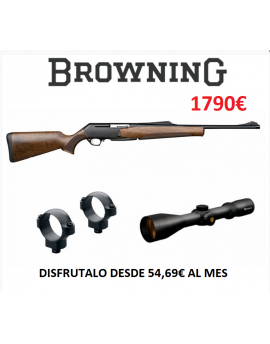 Conjunto Rifle BAR Browning MK3 + Monturas LEUPOLD Desmontables + Visor NIKKO STIRLING