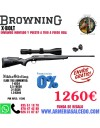 CONJUNTO DE RIFLE BROWNING X BOLT + MONTURAS + VISOR NIKKO STIRLING